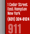 1 Ceadar Street East Hampton New York, Ph:631-324-0124